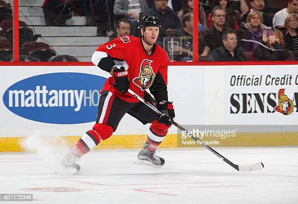 Marc Methot of the Ottawa Senators skates against the Carolina Hurricanes at Canadian Tire Centre on November 1 2016 in Ottawa Ontario Canada