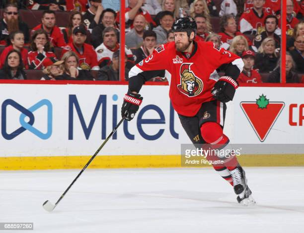 Marc Methot of the Ottawa Senators skates against the Pittsburgh Penguins in Game Six of the Eastern Conference Final during the 2017 NHL Stanley Cup...