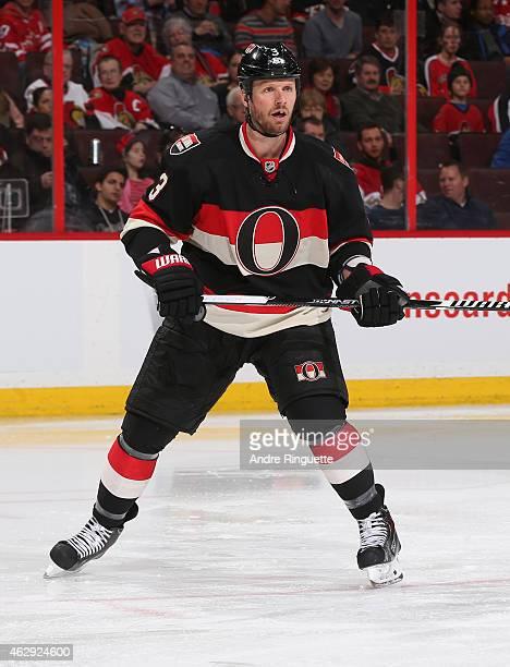 Marc Methot of the Ottawa Senators skates against the Washington Capitals at Canadian Tire Centre on February 5 2015 in Ottawa Ontario Canada