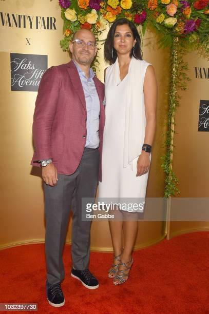 Marc Metrick and Radhika Jones attend as Vanity Fair and Saks Fifth Avenue celebrate Vanity Fair's BestDressed 2018 at Manhatta on September 12 2018...