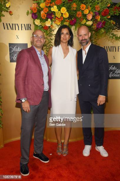 Marc Metrick Radhika Jones and Chris Mitchell attend as Vanity Fair and Saks Fifth Avenue celebrate Vanity Fair's BestDressed 2018 at Manhatta on...