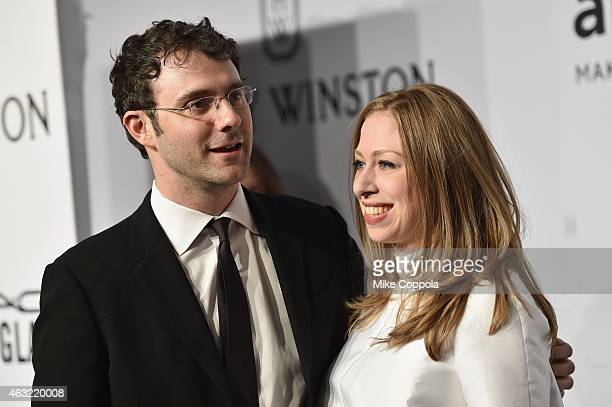 Marc Mezvinsky and Chelsea Clinton attend the 2015 amfAR New York Gala at Cipriani Wall Street on February 11, 2015 in New York City.