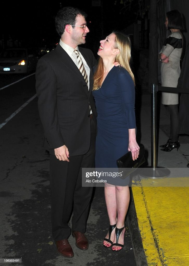 Marc Mezvinsky and Chelsea Clinton attend the 9th annual CFDA/Vogue Fashion Fund Awards at Center 548 on November 13, 2012 in New York City.