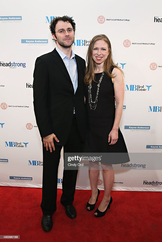 Marc Mezvinsky and Chelsea Clinton attend The Headstrong Project's 3rd Annual Words of War Event at One World Trade Center on October 19, 2015 in New York City.