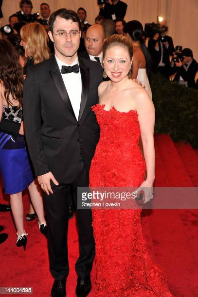 "Marc Mezvinsky and Chelsea Clinton attend the ""Schiaparelli And Prada: Impossible Conversations"" Costume Institute Gala at the Metropolitan Museum of..."