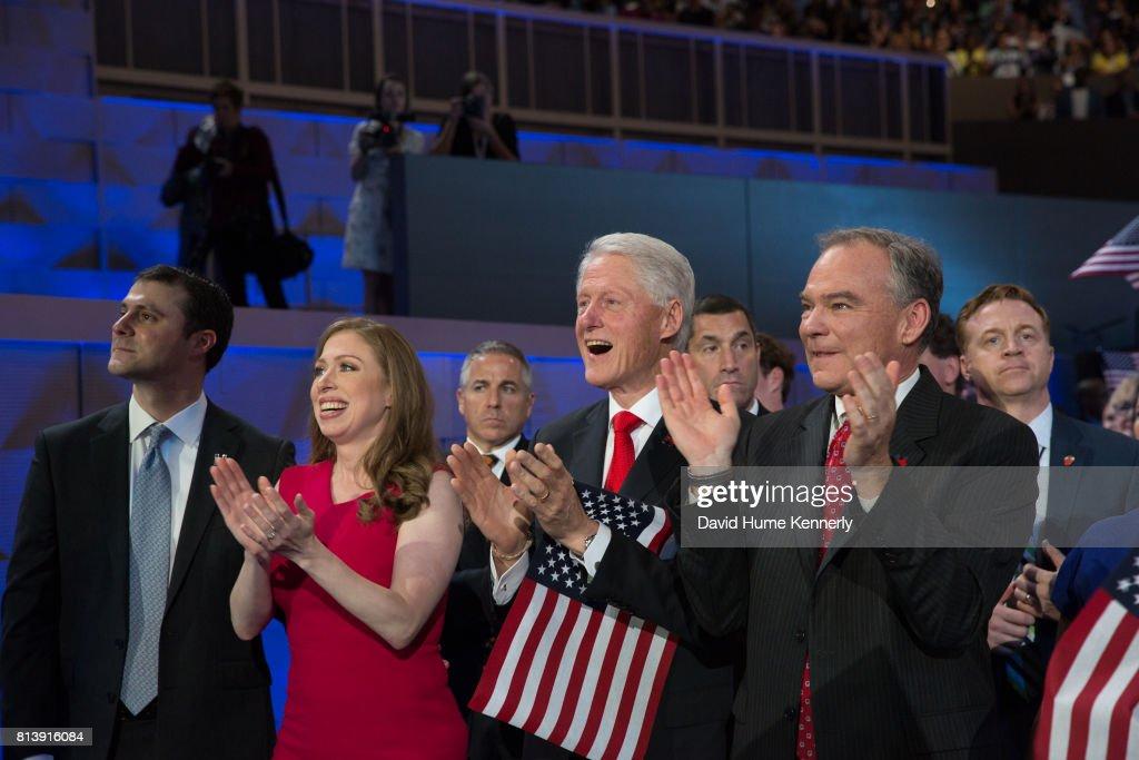 Clintons & Kaines At The DNC : News Photo