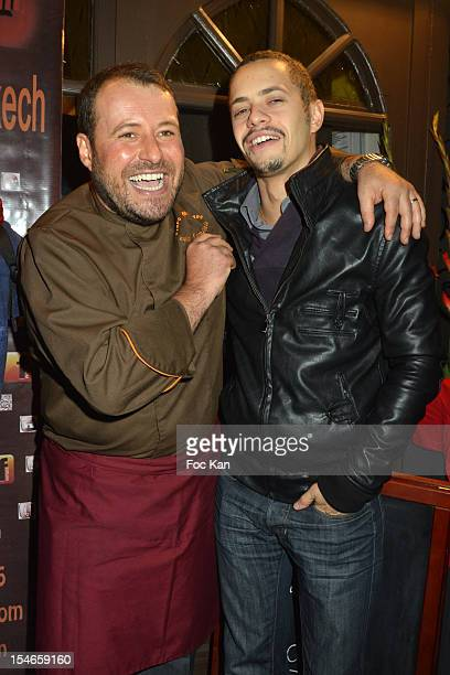Marc Mitonne and Ambroise Michel attend the 'Les 10 Ans de Marc Mitonne' Party Hosted by '2 Mains Rouges' at the Marc Mitonne Restaurant on October...
