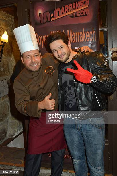 Marc Mitonne and Christopher Tascon attend the 'Les 10 Ans de Marc Mitonne' Party Hosted by '2 Mains Rouges' at the Marc Mitonne Restaurant on...