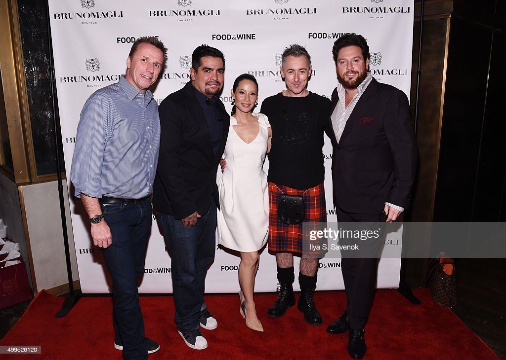 Marc Murphy, Aaron Sanchez, Lucy Liu, Alan Cumming and Scott Conant attend Bruno Magli Presents A Taste Of Italy Co-Hosted By Food & Wine & Scott Conant on December 1, 2015 in New York City.