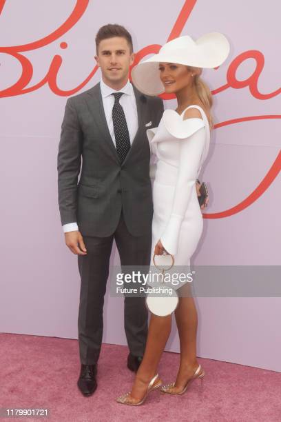 Marc Murphy and Jessie Murphy on Derby Day at the 2019 Melbourne Cup Carnival at Flemington Racecourse in Melbourne Australia- PHOTOGRAPH BY Chris...