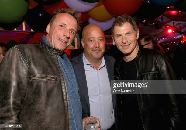 Marc Murphy Andrew Zimmern and Bobby Flay attend Food Network's 25th Birthday Party Celebration at the 11th annual New York City Wine Food Festival...