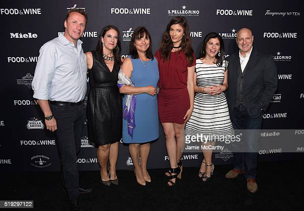 Marc Murphy Christina Grdovic Barbara Banke Julia Jackson Nilou Motamed and Tom Colicchio attend FOOD WINE 2016 Best New Chefs event on April 5 2016...
