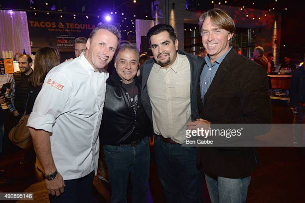 Marc Murphy Lee Schrager Aaron Sanchez and John Besh attend Tacos Tequila presented by Mexico hosted by Aaron Sanchez during Food Network Cooking...