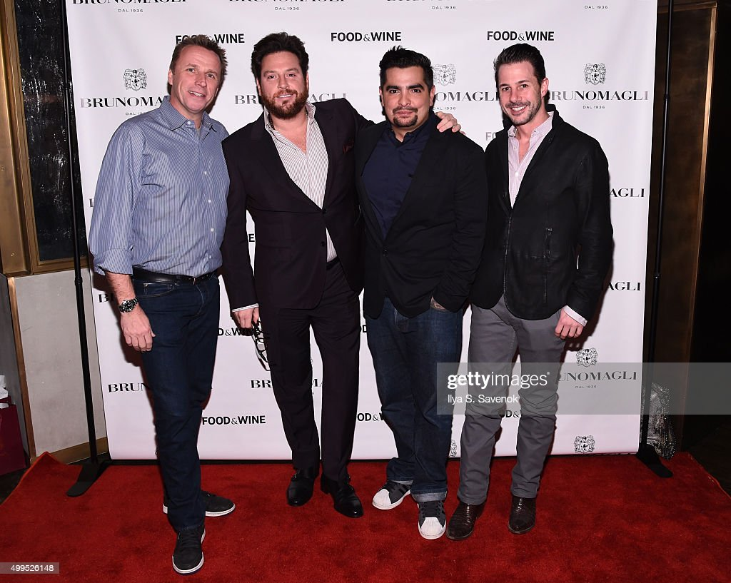Marc Murphy, Scott Conant, Aaron Sanchez and Johnny Iuzzini attend Bruno Magli Presents A Taste Of Italy Co-Hosted By Food & Wine & Scott Conant on December 1, 2015 in New York City.
