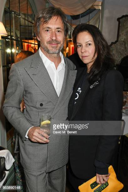 Marc Newson and Charlotte Stockdale attend a dinner hosted by the Missoni family to launch their new cookbook at Daphne's on May 2 2018 in London...