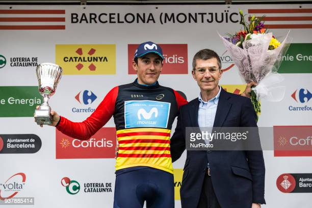 06 SOLER Marc of MOVISTAR TEAM celebrating the Catalonia maillot first rider at the podium during the 98th Volta Ciclista a Catalunya 2018 / Stage 7...