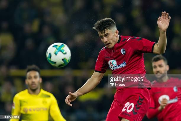Marc Oliver Kempf of Freiburg controls the ball during the Bundesliga match between Borussia Dortmund and SportClub Freiburg at Signal Iduna Park on...