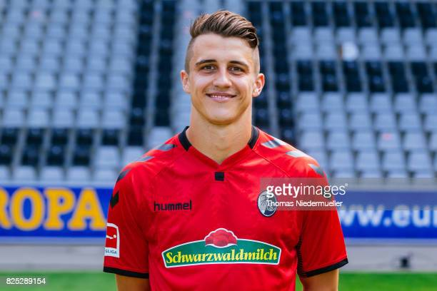 Marc Oliver Kempf of SC Freiburg poses during the team presentation at SchwarzwaldStadion on August 1 2017 in Freiburg im Breisgau Germany