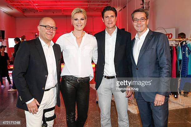 Marc Opelt Marcus HoeflRiesch Marcus Hoefl and Alexander Birken attend the OTTO Exclusive Sport Cooperation celebrations on May 04 2015 in Munich...
