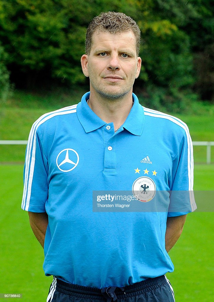 Marc Optenberg, physiotherapist poses during the U17 Germany team presentation at the Sportschule on September 14, 2009 in Hennef, Germany.