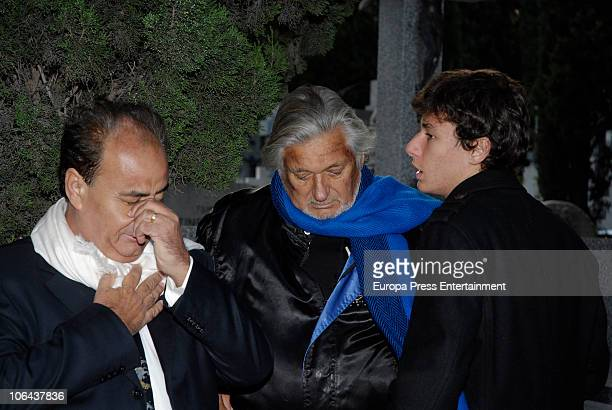 Marc Ostarcevic and Christian Ostarcevic attend the funeral for Carla Duval sister of vedette Norma Duval at San Isidro Cementery on November 1 2010...