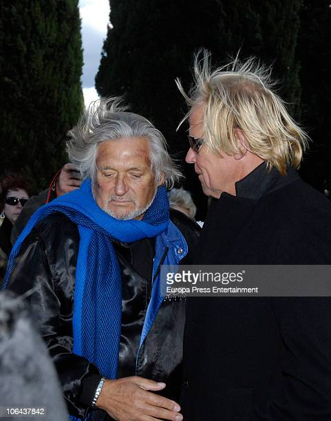 Marc Ostarcevic and Mathias Kuehn attend the funeral for Carla Duval sister of vedette Norma Duval at San Isidro Cementery on November 1 2010 in...