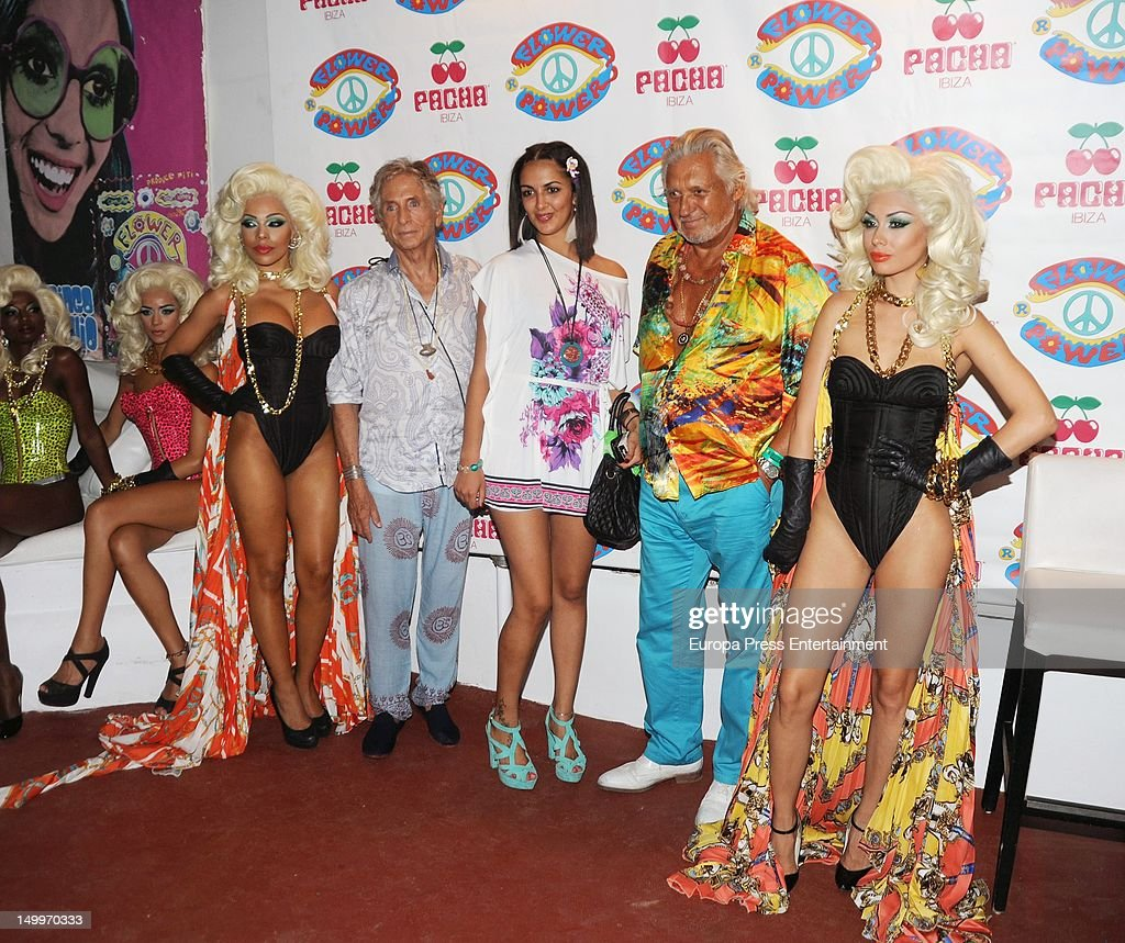 Marc Ostarcevic (2R) attends 'Flower Power' Party 2012 at Pacha Club on August 7, 2012 in Ibiza, Spain.