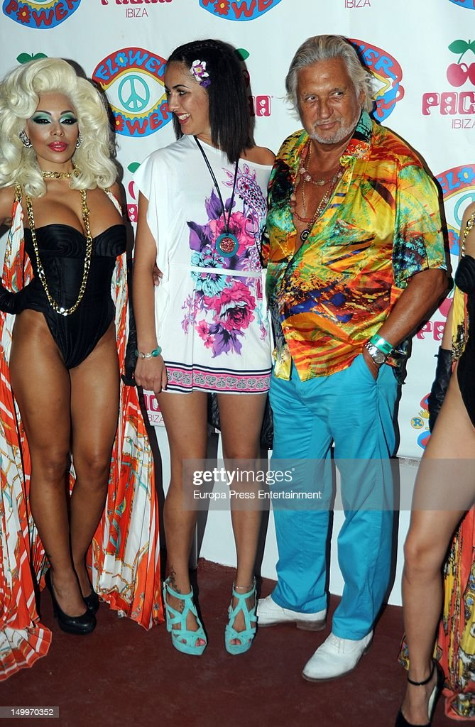 Marc Ostarcevic (R) attends 'Flower Power' Party 2012 at Pacha Club on August 7, 2012 in Ibiza, Spain.