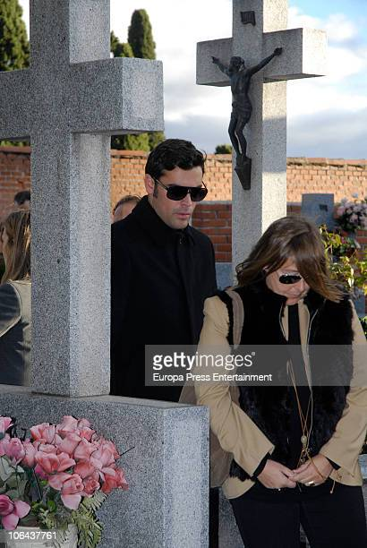 Marc Ostarcevic junior attends the funeral for Carla Duval sister of vedette Norma Duval at San Isidro Cementery on November 1 2010 in Madrid Spain...