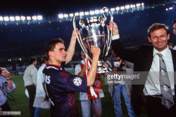 Marc OVERMARS of Ajax celebrate the victory with the trophy during the Champions League Final match between Ajax Amsterdam and Milan AC at...