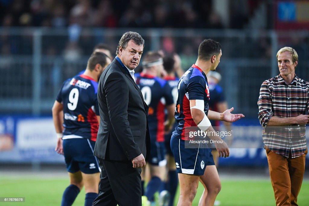 Marc Palanques President of French Federation during the rugby union test match between France and England on October 22, 2016 in Avignon, France.