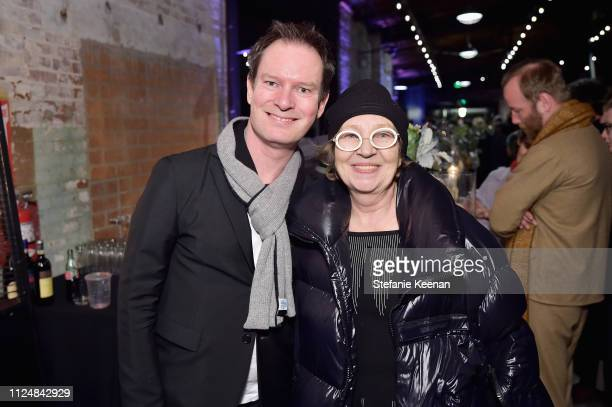 Marc Payot and Caroline Bourgeois attend Hauser Wirth Los Angeles Opening of Annie Leibovitz and Piero Manzoni and Musical Performance by Patti Smith...