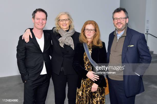 Marc Payot Annie Leibovitz Manuela Wirth and Iwan Wirth attend Hauser Wirth Los Angeles Opening of Annie Leibovitz and Piero Manzoni and Musical...
