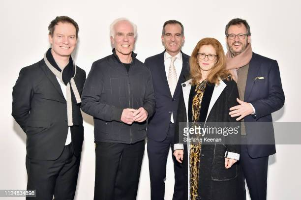 Marc Payot Gil Garcetti Mayor Eric Garcetti Manuela Wirth and Iwan Wirth attend Hauser Wirth Los Angeles Opening of Annie Leibovitz and Piero Manzoni...