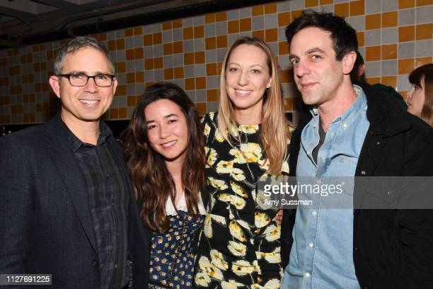 Marc Provissiero Maya Erskine Anna Konkle and BJ Novak attend the screening of Pen15 at NeueHouse Hollywood on February 05 2019 in Los Angeles...