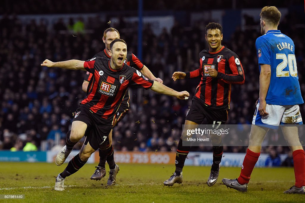 Portsmouth v AFC Bournemouth - The Emirates FA Cup Fourth Round : News Photo