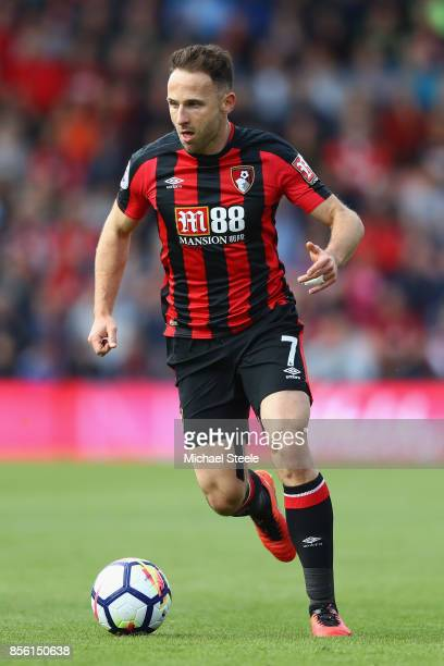 Marc Pugh of Bournemouth during the Premier League match between AFC Bournemouth and Leicester City at Vitality Stadium on September 30 2017 in...