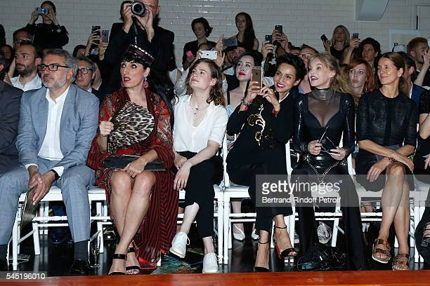 Marc Puig actress Rossy de Palma singer of 'Christine and the Queens' Eloise Letissier Farida Khelfa Seydoux Arielle Dombasle and Karla Otto attend...
