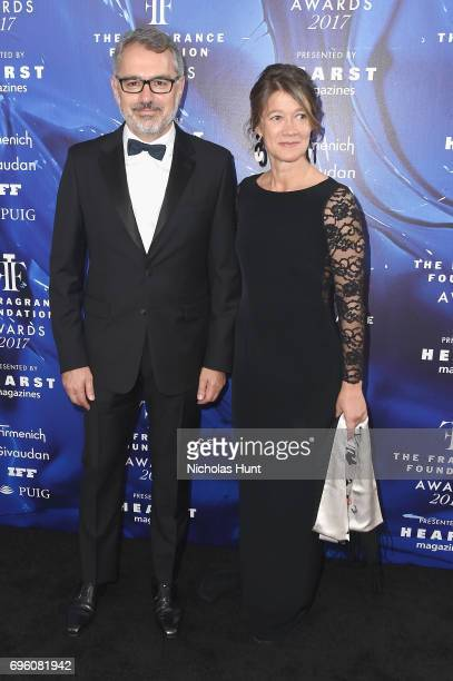 Marc Puig and his wife attend the 2017 Fragrance Foundation Awards Presented By Hearst Magazines at Alice Tully Hall on June 14 2017 in New York City
