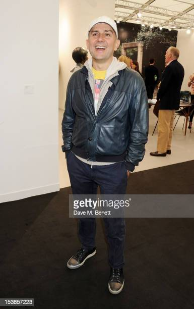Marc Quinn attends a VIP Preview of the Frieze Art Fair in Regent's Park on October 10 2012 in London England