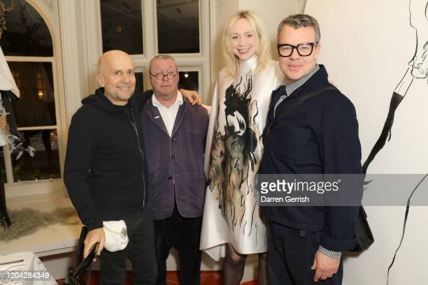 Marc Quinn Fergus Henderson Gwendoline Christie and Jeremy Lee attend the MATCHESFASHION X Giles Deacon X Peter Reed dinner on February 05 2020 in...