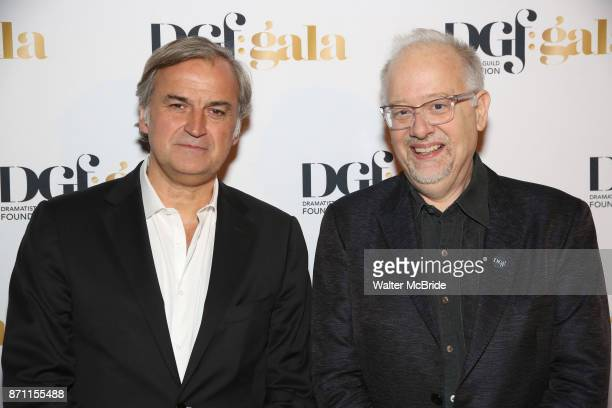 Marc Rey and Doug Wright attend the 2017 Dramatists Guild Foundation Gala reception at Gotham Hall on November 6 2017 in New York City