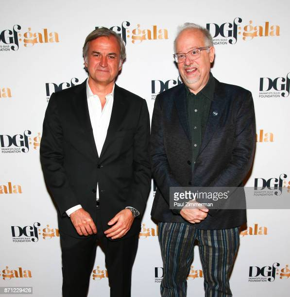 Marc Rey and Doug Wright attend the 2017 Dramatists Guild Foundation Gala at Gotham Hall on November 6 2017 in New York City