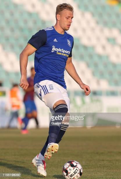 Marc Roberts of Birmingham CFC in action during the PreSeason Friendly match between Birmingham CFC and CD Cova da Piedade at Estadio do Bonfim on...