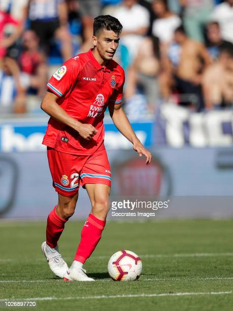 Marc Roca Junque of RCD Espanyol during the La Liga Santander match between Deportivo Alaves v Espanyol at the Estadio de Mendizorroza on September 2...