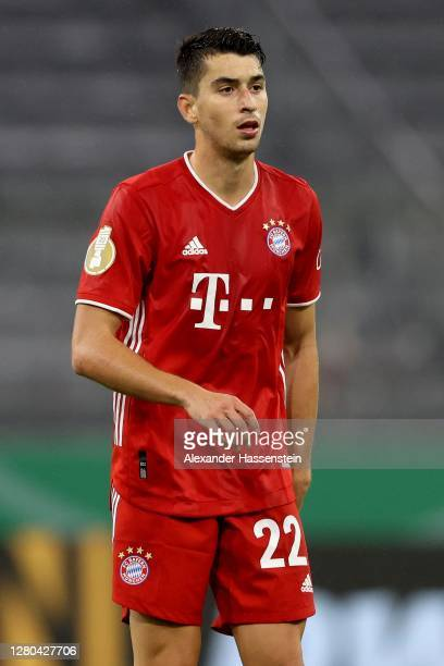 Marc Roca of FC Bayern München looks on during the DFB Cup first round match between 1. FC Düren and FC Bayern Muenchen at Allianz Arena on October...