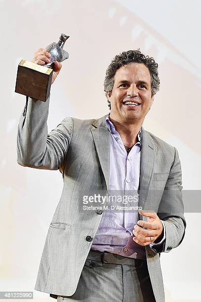 Marc Ruffalo receives the 'Giffoni Experience Award' during Giffoni Film Festival 2015 on July 18 2015 in Giffoni Valle Piana Italy