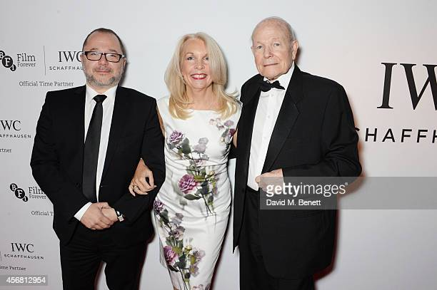 Marc Samuelson Amanda Nevill CEO of the BFI and Sir Sydney Samuelson attend the BFI London Film Festival IWC Gala Dinner in honour of the BFI at...