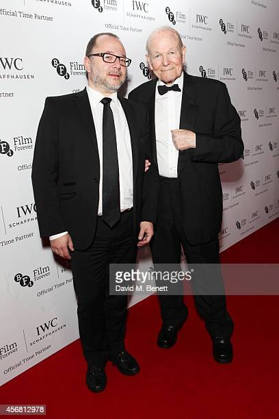 Marc Samuelson and Sir Sydney Samuelson attend the BFI London Film Festival IWC Gala Dinner in honour of the BFI at Battersea Evolution Marquee on...