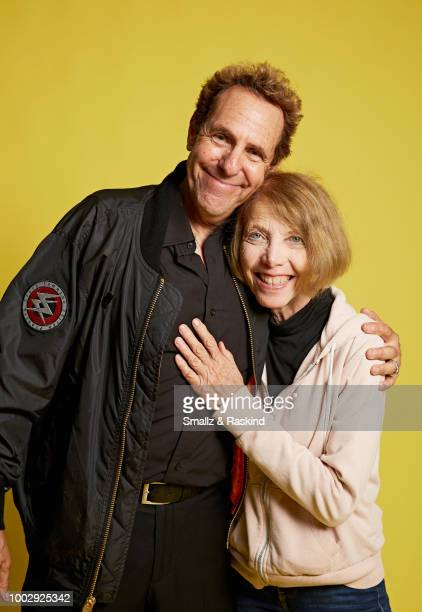 Marc Scott Zicree from 'Space Command' and Elaine Zicree pose for a portrait in the Getty Images Portrait Studio powered by Pizza Hut at San Diego...